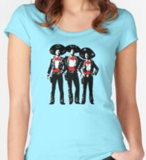 Three Amigos - Pop Art on Green Women's Fitted Scoop T-Shirt