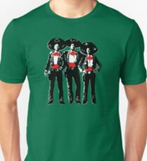 Three Amigos - Pop Art on Green Unisex T-Shirt