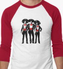 Drei Amigos - Pop Art auf Rot Baseballshirt für Männer