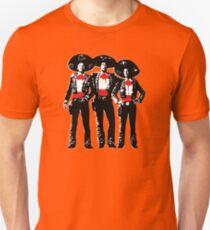 Three Amigos - Pop Art on Red Unisex T-Shirt