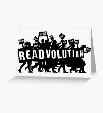 READVOLUTION Greeting Card