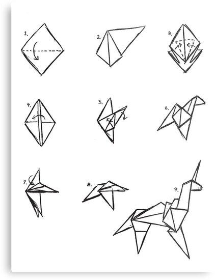 """Blade Runner Origami Unicorn Pin: Blade Runner"""" Metal Prints By [g-ee-k"""