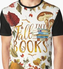 Fall Into Books Graphic T-Shirt
