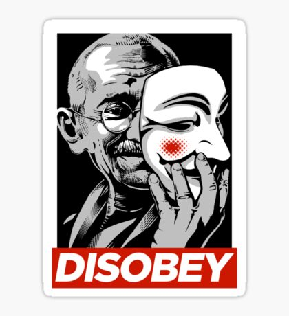 Disobey II Poster Version Sticker