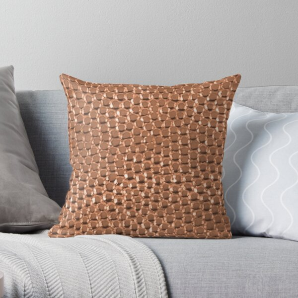 Copper Hammered Dots Throw Pillow