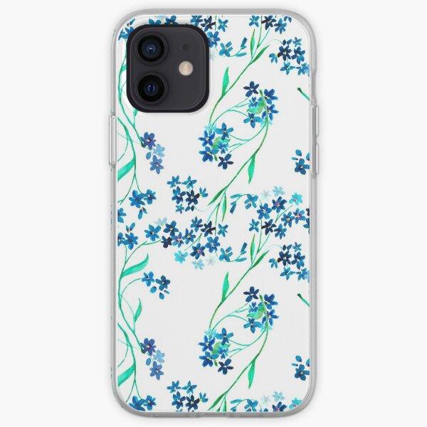 Watercolor blue flower. iPhone Soft Case