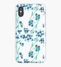 Watercolor blue flower. iPhone Case/Skin