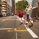 Garth and Scott at Pole Position, Monaco by Murray Breingan