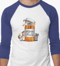 Happy Pills Men's Baseball ¾ T-Shirt
