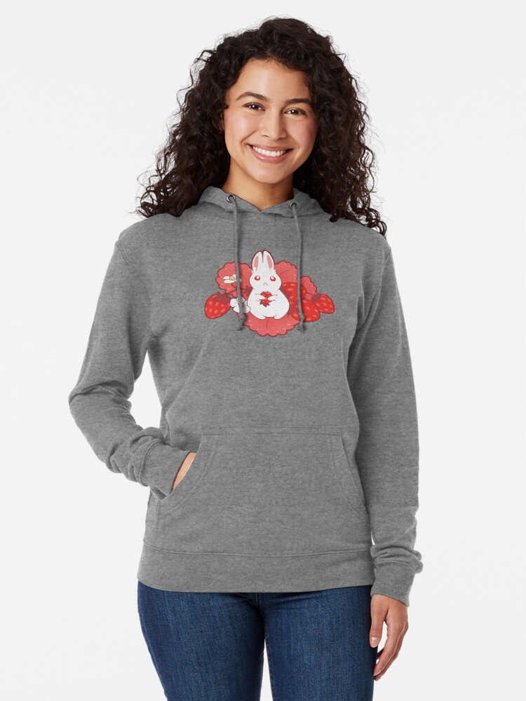 Alternate view of Strawbunny Delight Lightweight Hoodie