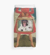 Animal Collection -- Monkey See Monkey Do Duvet Cover