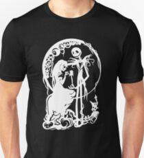 Nightmare Before Christmas - White On Black T-Shirt