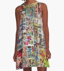 Comic Collage A-Line Dress