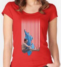 Piledriving Sharks! Women's Fitted Scoop T-Shirt