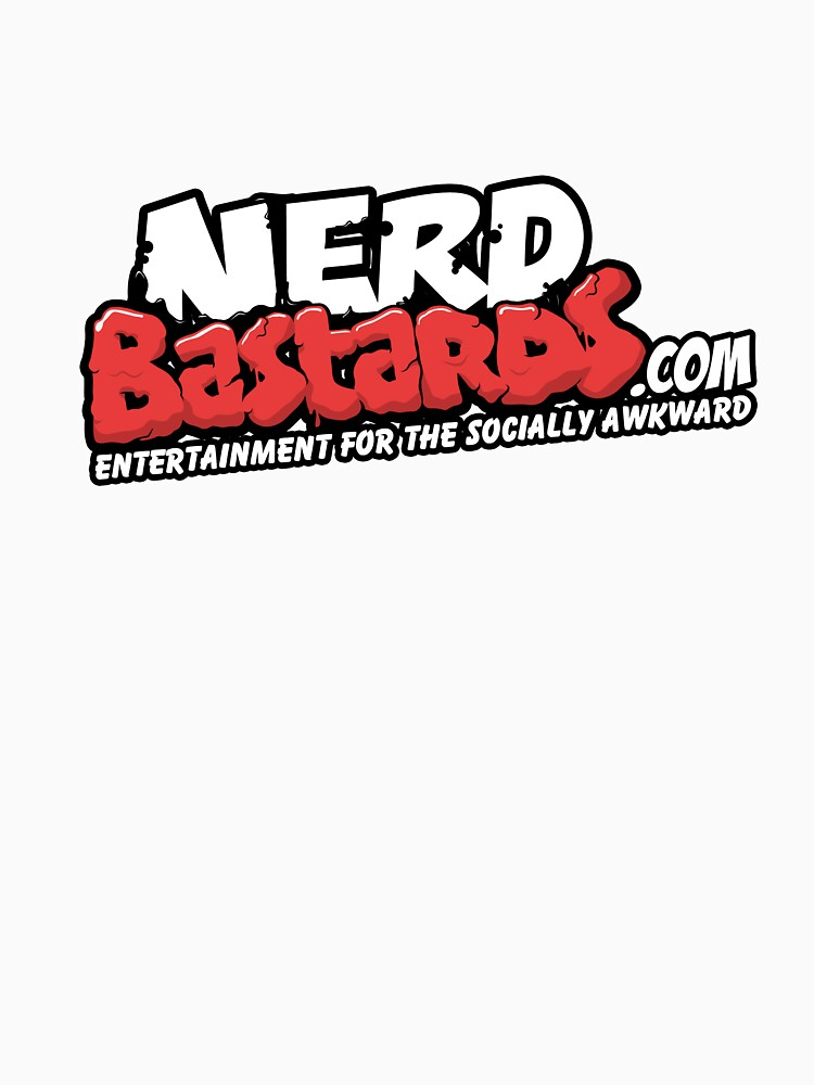 Nerd Bastards.com Logo Tee by nerdbastards