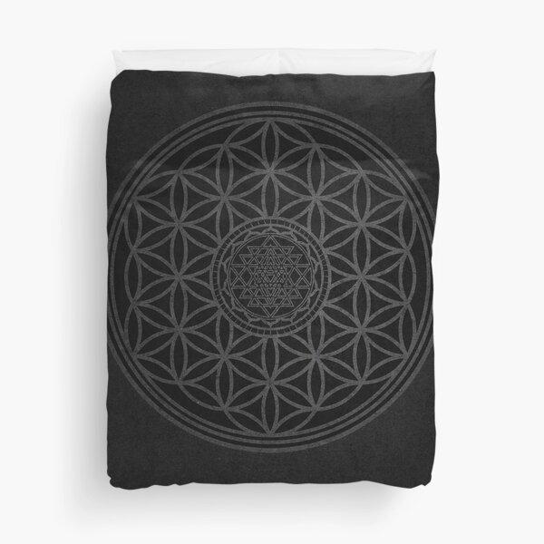Dark Sacred Unity - Sacred Geometry Duvet Cover