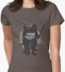 At Your Service Womens Fitted T-Shirt