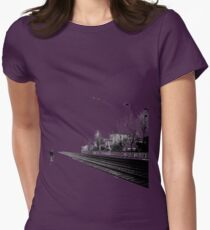 Life is one big road... Womens Fitted T-Shirt