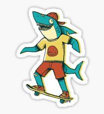 Skater Shark Sticker