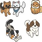 Pupper Stickers by ncdoggGraphics