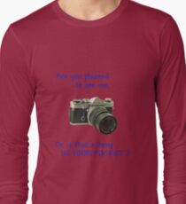 Are you pleased to see me. Sony. Long Sleeve T-Shirt