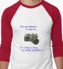 Are you pleased to see me. Sony. Men's Baseball ¾ T-Shirt