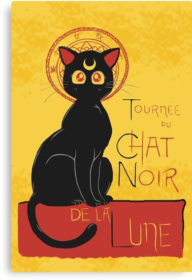 Chat Noir de la Lune by DiHA