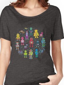 Robots in Space - grey Women's Relaxed Fit T-Shirt