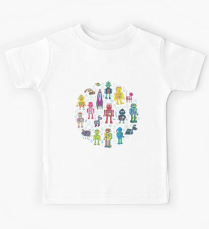 Robots in Space - grey Kids Clothes