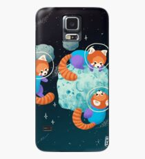 Red Space Pandas Case/Skin for Samsung Galaxy