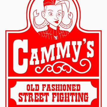 Cammy's Old Fashioned Street Fighting RED STENCIL by citizentang