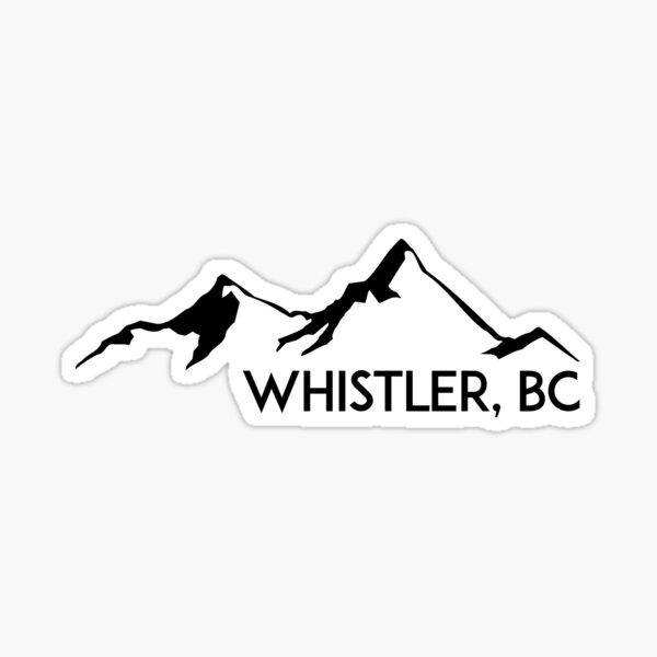 WHISTLER BRITISH COLUMBIA CANADA SKIING SNOWBOARDING MOUNTAINS SKI 3 Sticker