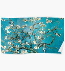 Van Gogh Almond Blossoms Tilt Shift Poster