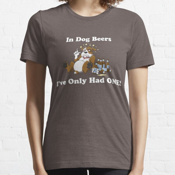 In Dog Beers (Brown & White) Essential T-Shirt
