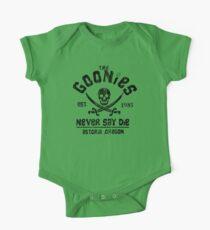The Goonies - Naver Say Die - Black on White Kids Clothes