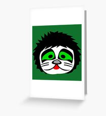 KISS - Catman Peter Criss Chibi Greeting Card