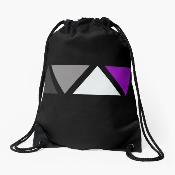 Triangles Asexual Pride Flag. Subtle Asexual Pride Drawstring Bag