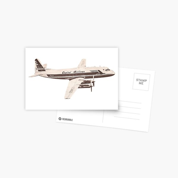 Capitol Airlines Airplane sticker Postcard