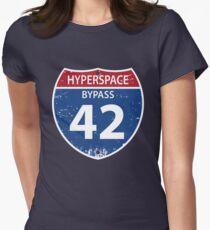Hyperspace Bypass 42 Women's Fitted T-Shirt