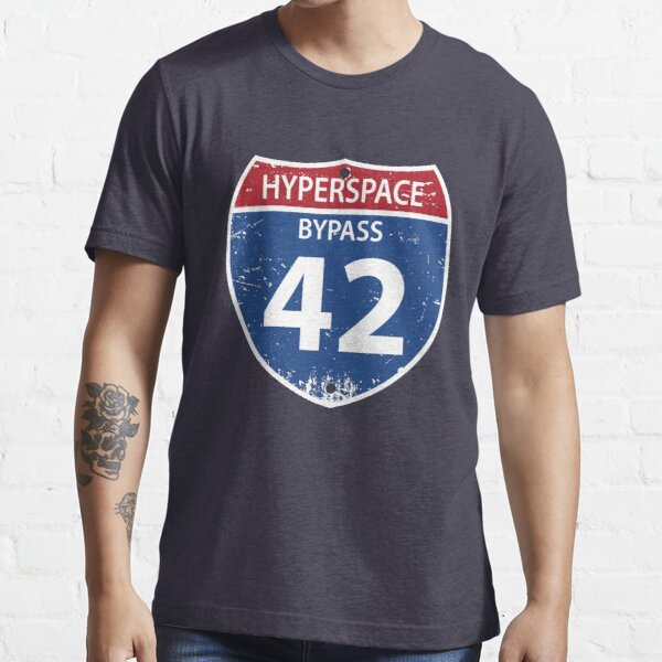 Hyperspace Bypass 42 Essential T-Shirt