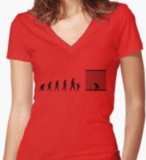 99 steps of progress - Respect for elders Women's Fitted V-Neck T-Shirt