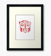 Transformers - Autobot Wordtee Framed Print