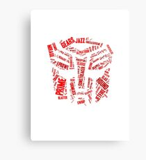 Transformers - Autobot Wordtee Canvas Print