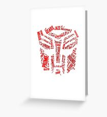 Transformers - Autobot Wordtee Greeting Card