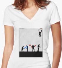 99 Steps of Progress - Photoshop Women's Fitted V-Neck T-Shirt
