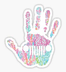 Lily Pulitzer inspired JEEP WAVE  Sticker