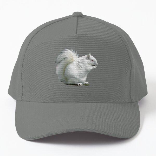 Albino Grey Squirrel Baseball Cap