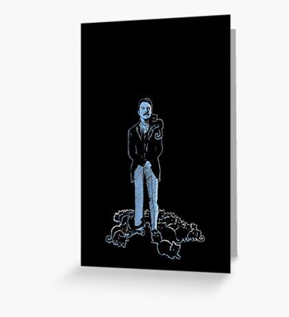 David Bowie As Tesla Greeting Card