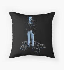David Bowie As Tesla Throw Pillow