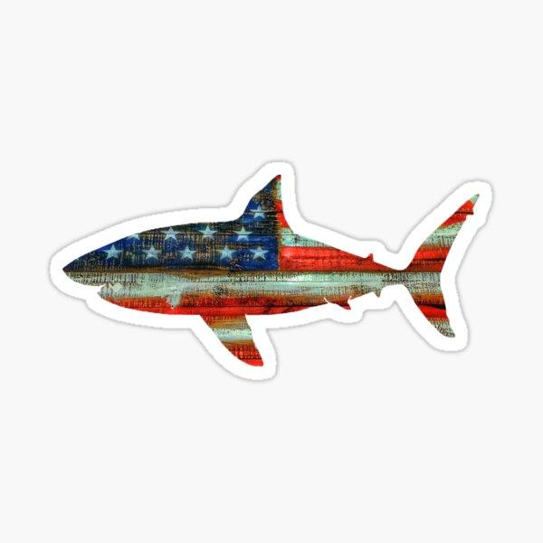 USA Shark Sticker